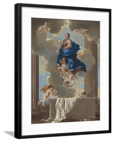 The Assumption of the Virgin, c.1630-32-Nicolas Poussin-Framed Art Print