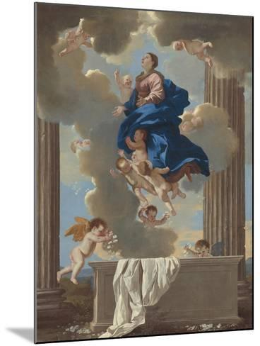 The Assumption of the Virgin, c.1630-32-Nicolas Poussin-Mounted Giclee Print