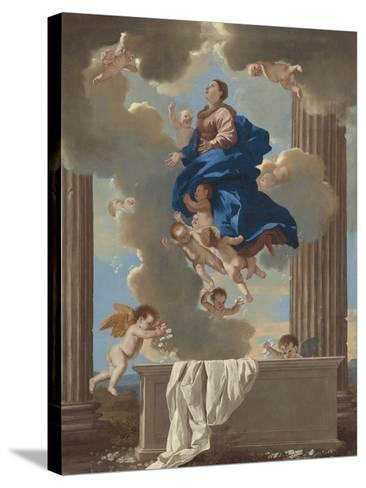 The Assumption of the Virgin, c.1630-32-Nicolas Poussin-Stretched Canvas Print