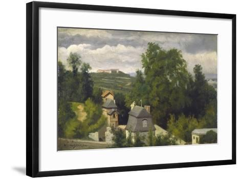 View of the outskirts of Caen, 1872-75-Stanislas Victor Edouard Lepine-Framed Art Print