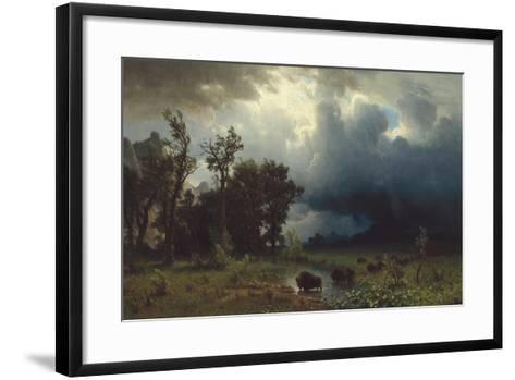 Buffalo Trail: The Impending Storm, 1869-Albert Bierstadt-Framed Art Print