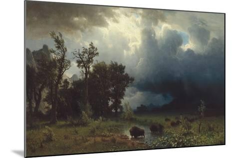 Buffalo Trail: The Impending Storm, 1869-Albert Bierstadt-Mounted Giclee Print