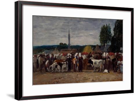 Fair in Brittany, 1874-Eugene Louis Boudin-Framed Art Print