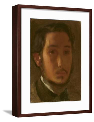 Self-Portrait with White Collar, c.1857-Edgar Degas-Framed Art Print