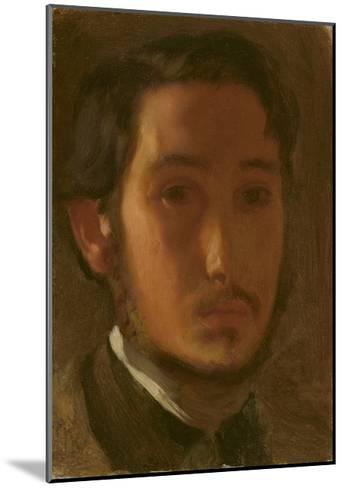 Self-Portrait with White Collar, c.1857-Edgar Degas-Mounted Giclee Print