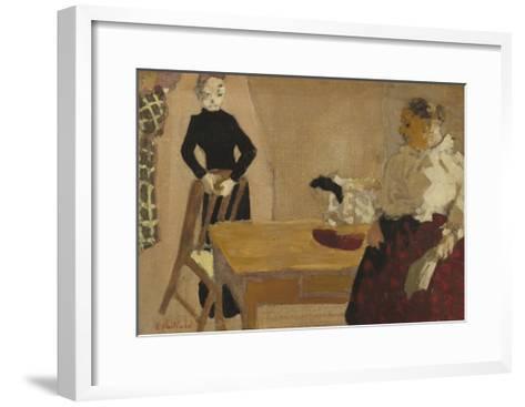 The Conversation, 1891-Edouard Vuillard-Framed Art Print