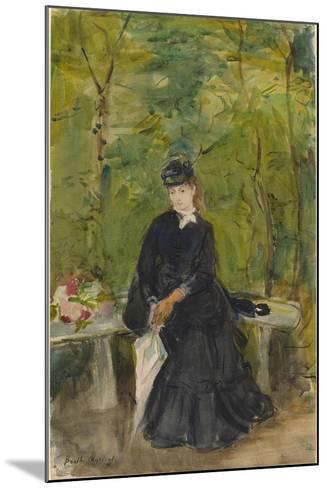 The Artist's Sister Edma Seated in a Park, 1864-Berthe Morisot-Mounted Giclee Print