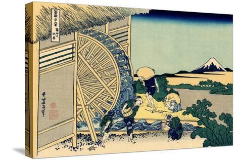 Watermill at Onden, c.1830-Katsushika Hokusai-Stretched Canvas Print