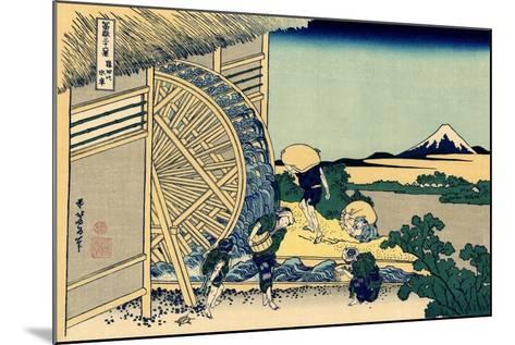 Watermill at Onden, c.1830-Katsushika Hokusai-Mounted Giclee Print