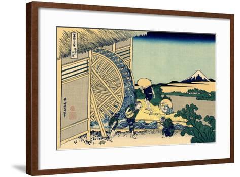 Watermill at Onden, c.1830-Katsushika Hokusai-Framed Art Print