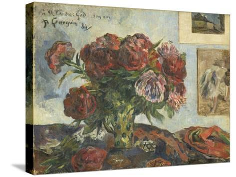 Still Life with Peonies, 1884-Paul Gauguin-Stretched Canvas Print