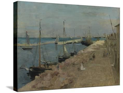 The Harbour at Cherbourg, 1871-Berthe Morisot-Stretched Canvas Print