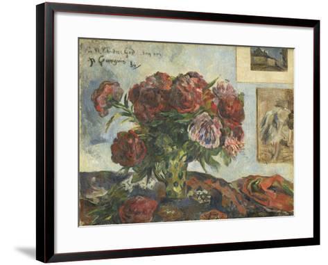 Still Life with Peonies, 1884-Paul Gauguin-Framed Art Print