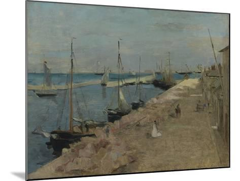 The Harbour at Cherbourg, 1871-Berthe Morisot-Mounted Giclee Print