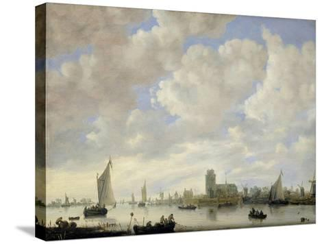 View of the Merwede at Dordrecht, c.1660-Jeronimus van Diest-Stretched Canvas Print