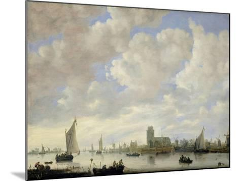 View of the Merwede at Dordrecht, c.1660-Jeronimus van Diest-Mounted Giclee Print