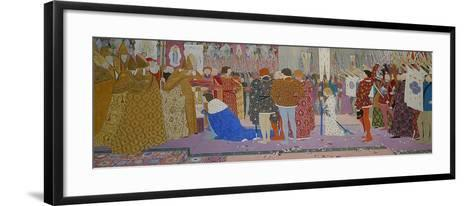 The Crowning at Reims of the Dauphin, from Joan of Arc Series E, 1907-Louis Maurice Boutet De Monvel-Framed Art Print