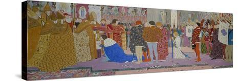 The Crowning at Reims of the Dauphin, from Joan of Arc Series E, 1907-Louis Maurice Boutet De Monvel-Stretched Canvas Print