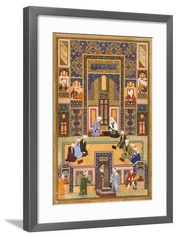 The Meeting of the Theologians- Abd Allah Musawwir-Framed Art Print