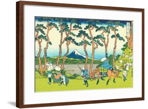 Hodogaya on the Tokaido, c.1830-Katsushika Hokusai-Framed Art Print