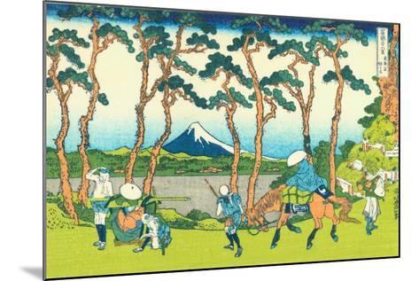 Hodogaya on the Tokaido, c.1830-Katsushika Hokusai-Mounted Giclee Print