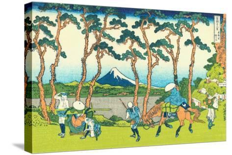 Hodogaya on the Tokaido, c.1830-Katsushika Hokusai-Stretched Canvas Print
