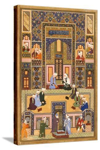 The Meeting of the Theologians- Abd Allah Musawwir-Stretched Canvas Print
