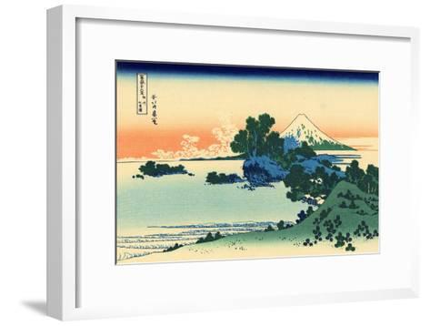 Shichiri Beach in Sagami Province, c.1830-Katsushika Hokusai-Framed Art Print