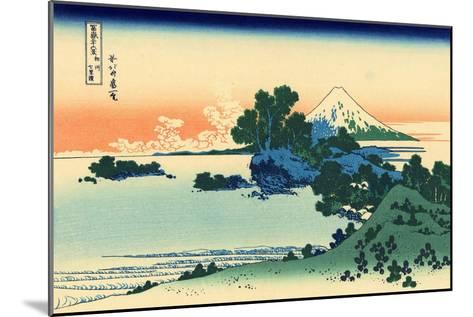 Shichiri Beach in Sagami Province, c.1830-Katsushika Hokusai-Mounted Giclee Print
