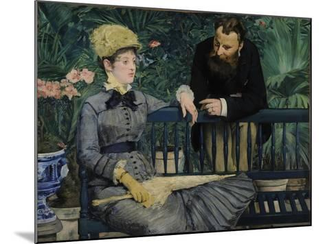 In the Conservatory, 1879-Edouard Manet-Mounted Giclee Print