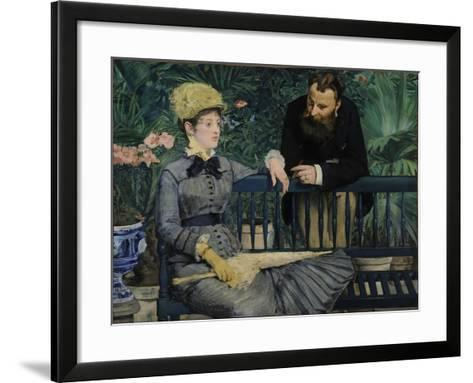 In the Conservatory, 1879-Edouard Manet-Framed Art Print