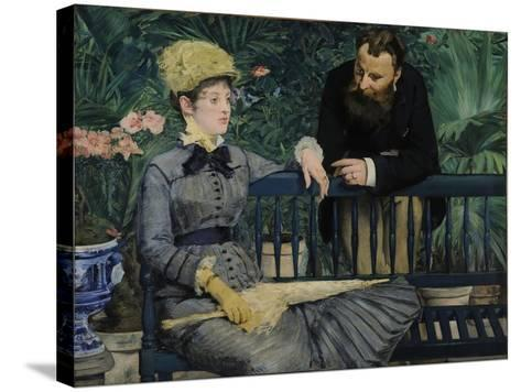 In the Conservatory, 1879-Edouard Manet-Stretched Canvas Print