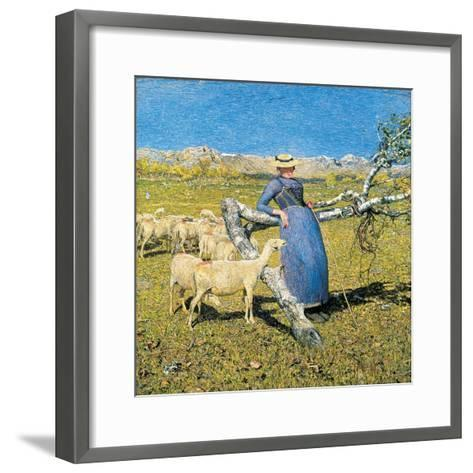 Afternoon in the Alps, 1892-Giovanni Segantini-Framed Art Print