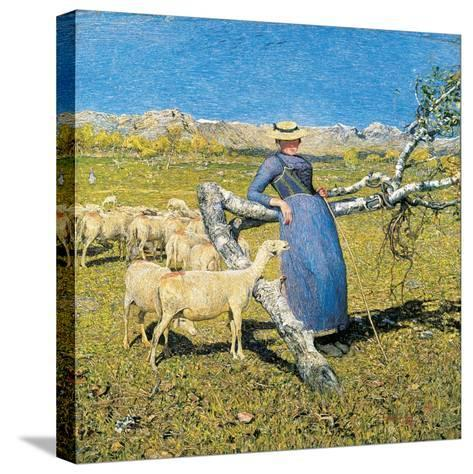 Afternoon in the Alps, 1892-Giovanni Segantini-Stretched Canvas Print