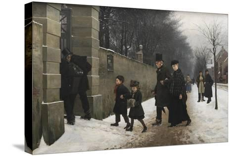 A Funeral, 1883-Frants Henningsen-Stretched Canvas Print