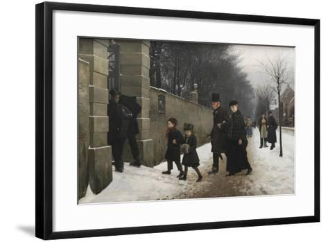 A Funeral, 1883-Frants Henningsen-Framed Art Print
