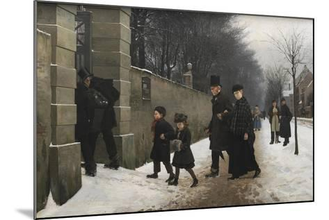 A Funeral, 1883-Frants Henningsen-Mounted Giclee Print
