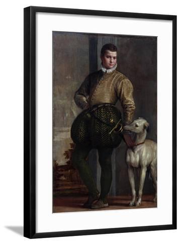 Boy with a Greyhound, c.1570s-Veronese-Framed Art Print