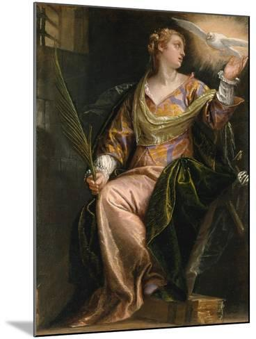 Saint Catherine of Alexandria in Prison, c.1580-5-Veronese-Mounted Giclee Print