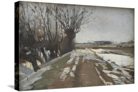 Winter Landscape. Utterslev near Copenhagen, 1887-Albert Gottschalk-Stretched Canvas Print