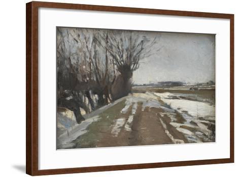 Winter Landscape. Utterslev near Copenhagen, 1887-Albert Gottschalk-Framed Art Print