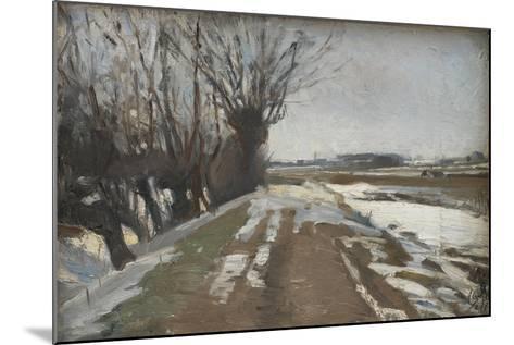 Winter Landscape. Utterslev near Copenhagen, 1887-Albert Gottschalk-Mounted Giclee Print