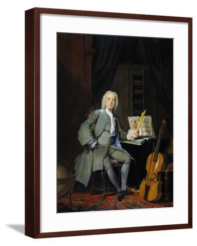 Portrait of a Member of the Van der Mersch Family, 1736-Cornelis Troost-Framed Art Print