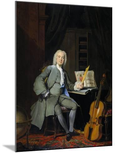 Portrait of a Member of the Van der Mersch Family, 1736-Cornelis Troost-Mounted Giclee Print