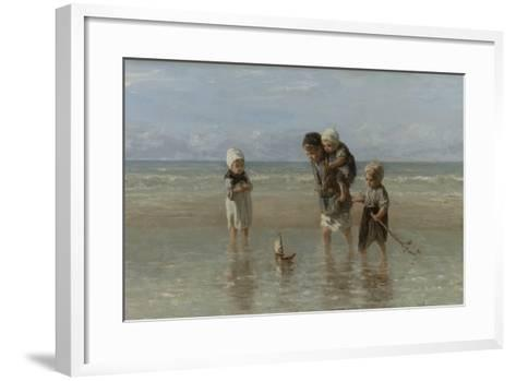 Children of the Sea, 1872-Jozef Israels-Framed Art Print