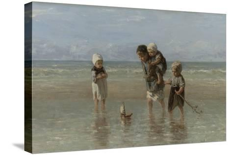 Children of the Sea, 1872-Jozef Israels-Stretched Canvas Print