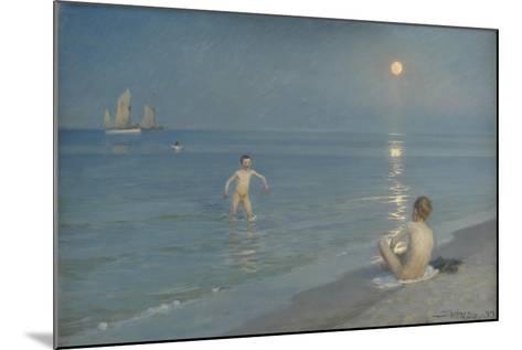 Boys Bathing at Skagen. Summer Evening, 1899-Peder Severin Kroyer-Mounted Giclee Print