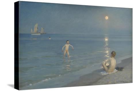 Boys Bathing at Skagen. Summer Evening, 1899-Peder Severin Kroyer-Stretched Canvas Print