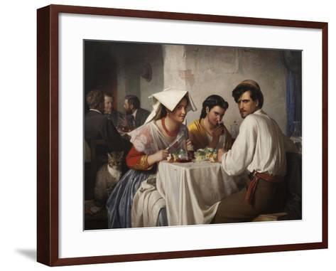 In a Roman Osteria, 1866-Carl Bloch-Framed Art Print