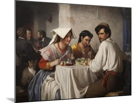 In a Roman Osteria, 1866-Carl Bloch-Mounted Giclee Print